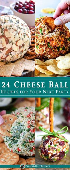 24 Delicious Cheese Ball Recipes for Your Next Party 24 Cheese Ball Recipes for Your Next Party via Michelle Varga (Dishes and Dust Bunnies) Cheese Appetizers, Finger Food Appetizers, Appetizers For Party, Appetizer Recipes, Party Snacks, Quick Appetizers, Appetizer Ideas, Delicious Cheese Ball Recipe, Cheese Ball Recipes