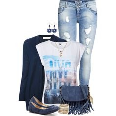 Casual Blues, created by angelysty on Polyvore