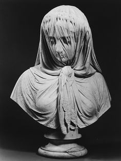 Veiled Woman 1869  Giovanni Battista Lombardi, marble.