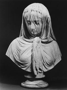Veiled Woman 1869  Giovanni Battista Lombardi, marble.