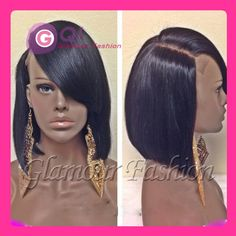 GQ Full lace human hair bob wigs short glueless bob Virgin Brazilian wig short  lace front wigs for black women 130% baby hair-in Wigs from Beauty & Health on Aliexpress.com | Alibaba Group