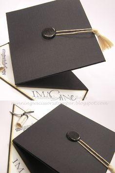 Graduation Card good tutorial...not just for graduation...good idea