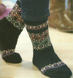 'Kasbah' knitted socks
