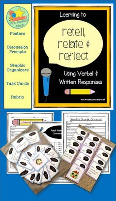 Guided Reading in retelling - relatiing - reflecting Guided Reading Activities, Reading Comprehension Activities, Reading Resources, 3rd Grade Reading, Third Grade Math, Grade 3, Reading Response, No Response, Oral Communication Skills