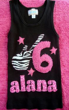 Rock Star Birthday Girl Shirt--available in short or long sleeves, tank and onesie styles. $27.00, via Etsy.