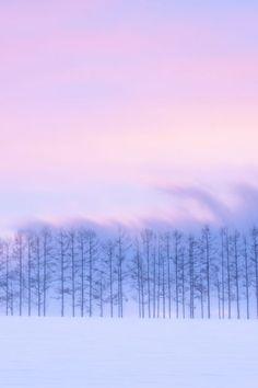 Silence, after sunset, Biei, Hokkaido, Japan