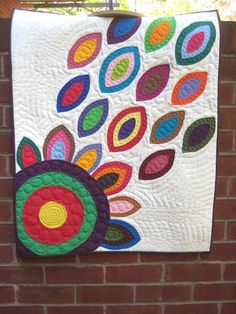 colorful quilt by PippaPatchwork