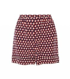 Marc Jacobs Printed Silk Crepe de Chine Shorts
