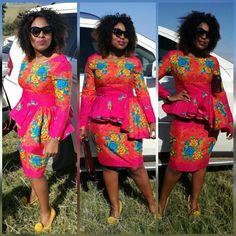 Wedding Shweshwe Dresses for 2019 ShweShwe 1 Tsonga Traditional Dresses, South African Traditional Dresses, African Traditional Wedding, African Fashion Designers, African Inspired Fashion, African Men Fashion, African Women, African Wedding Attire, African Attire