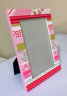 """washi tape frame """"cupid's valentine""""  http://www.etsy.com/shop/titwillo"""