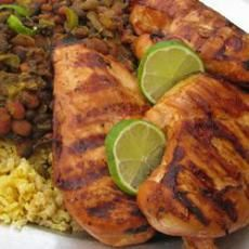 Key West Chicken Delicious with Cuban style black beans