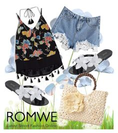 """""""ROMWE: Contrast Shorts"""" by laurabosch on Polyvore featuring Melissa and Ray-Ban"""