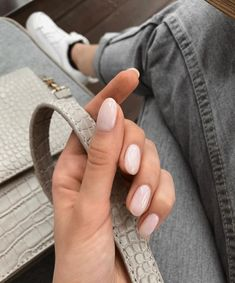 Almond nude nails.   Nail Inspo