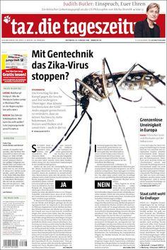 #20160224 #Germany #DeutscheZEITUNGenHEUTE Mittwoch / Wednesday FEB 24 2016 #TazDieTageszeitung http://en.kiosko.net/de/2016-02-24/np/tageszeitung.html