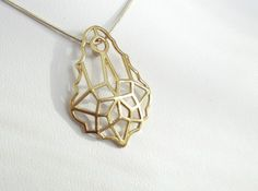 Baroque Stone Pendant by GaryKb on Shapeways. Learn more before you buy, or discover other cool products in Pendants and Necklaces. Gold Necklace, Pendant Necklace, Stone Pendants, Baroque, Jewelry Making, Prints, Stuff To Buy, Design, Gold Pendant Necklace
