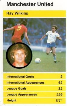 1982 Top Trumps British Stars Set 1 #NNO27 Ray Wilkins Front