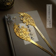 "changan-moon: "" Archaized hair ornaments by Chunwanwan(春晼晚) and Qingheji(青荷记). Hanfu lovers can order customized Chinese jewelry from the above two online stores. Of course these jewelry can't compete with real antiques which I post before, but still..."