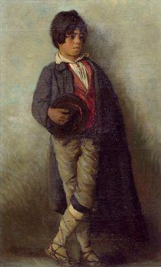Gustav Klimt (1862-1918) Pintor austriaco. Fue la figura más representativa del modernismo pictórico Jugendstil.  Savoyen Boy 1882