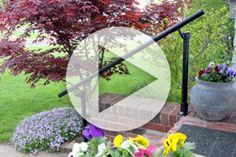 Easy to install stair handrail kits for your outdoor steps. Browse our metal handrail step kits and buy online. Perfect for porch and exterior entry stairs. Exterior Handrail, Outdoor Stair Railing, Stair Handrail, Porch Steps, Front Steps, Curb Appeal, Diy Projects, Surface, Porches