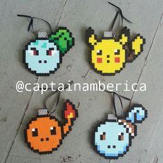 Pokemon Christmas bulb original designs perler beads by captainamberica