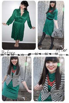 Love this girl and her fashion tips on mixing matching and reviving an outfit.