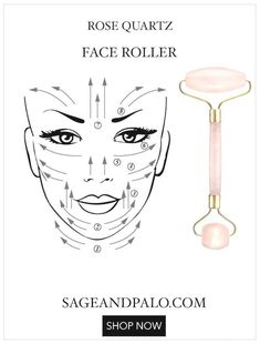 Guide To New Rose Quartz Face Roller Sage and Palo beauty hacks skincare hautpflege hautpflegezeichnung Beauty Hacks For Teens, Beauty Tips For Hair, Beauty Secrets, Beauty Advice, Beauty Guide, Beauty Ideas, Beauty Care, Beauty Skin, Face Beauty