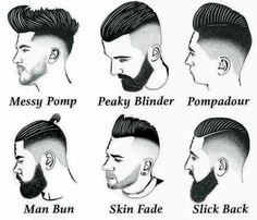 Nombres de cortes de cabello de barberia
