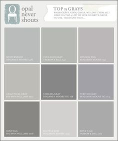 003 Gray paint picks for dining rooms (clockwise from top left