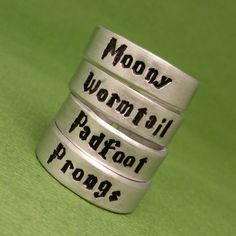 Harry Potter Inspired - Choose ONE - Moony, Wormtail, Padfoot or Prong | chasingatstarlight - Jewelry on ArtFire