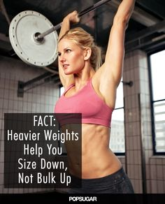 Why Heavier Weights Will Shrink You Down, Not Bulk You Up: -You'll lose weight faster -You can reshape your body
