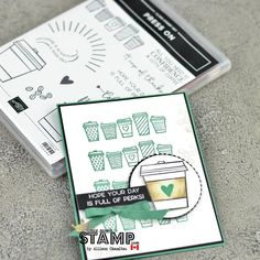 Stampin Up Canada, Coffee Cards, Card Maker, Crafty Projects, My Stamp, Homemade Cards, Cardmaking, Paper Crafts, Tea Sets