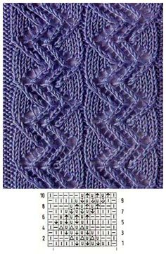 Lace Knitting Patterns, Knitting Stiches, Cable Knitting, Knitting Charts, Lace Patterns, Knitting Designs, Hand Knitting, Stitch Patterns, Lace Knitting