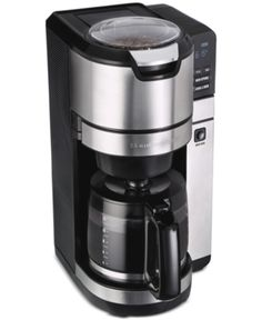 Hamilton Beach 45500 Grind and Brew Programmable 12 Cup Maker with Built-in Auto-Rinsing Coffee Grinder, Glass Carafe - Daily Buy Tips Cappuccino Maker, Cappuccino Machine, Espresso Maker, Espresso Machine Reviews, Coffee Maker Reviews, Coffee Uses, Great Coffee, Coffee Brewer