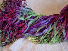 Beautiful WILD IRIS ribbon with dark shimmer edge by abbyandellie, $3.95
