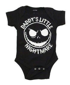 The Nightmare Before Christmas Jack Daddy's Little Nightmare Black Baby Snapsuit #NightmareBeforeChristmas