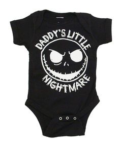 The Nightmare Before Christmas Jack Daddy's Little Nightmare Black Baby Snapsuit #NightmareBeforeChristmas