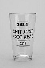 Graduation Pint Glass