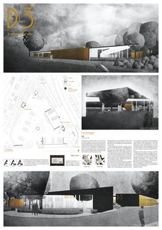 """Kolab Arkitekters winning proposal for the open competition """"Grønt Energipunkt Danmarksplass"""". The task was to design a superstructure to the worlds largest charging station for electric cars in Bergen. (Chargers are already established) Architecture Panel, Architecture Graphics, Architecture Drawings, Architecture Portfolio, Architecture Design, Presentation Board Design, Architecture Presentation Board, Architectural Presentation, Presentation Techniques"""