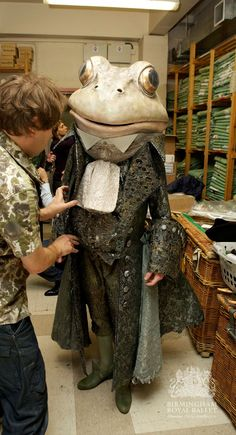 Fittings for Birmingham Royal Ballet's production of Cinderella; photo: Andrew Ross Fittings for Birmingham Royal Ballet's production of Cinderella; Creative Costumes, Diy Costumes, Cosplay Costumes, Halloween Costumes, Theatre Costumes, Ballet Costumes, Dance Costumes, Puppet Costume, Royal Ballet