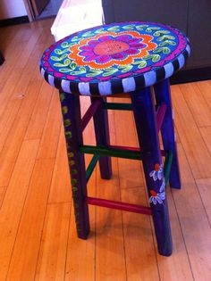 Upcycle Stool By Laurie Miller Designs