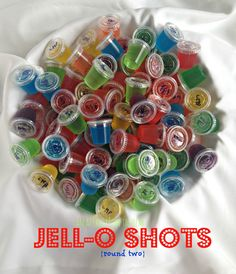 Round two of my Jell-o Shots -- NINE NEW Flavors