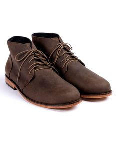 Love this Steel-Gray Leather Emilio Chukka Boot - Men's on #zulily! #zulilyfinds