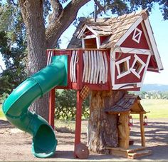 The Ultimate Treehouse by Affluent Products - it comes with it's own tree. If I had money to burn I would get one of these for the nieces!