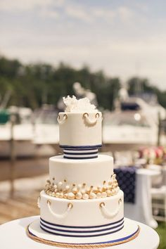 Nautical Chic Wedding Inspiration ~ Judah Avenue Photography, Sweet Ladies Bakery | bellethemagazine.com: