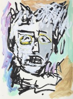 """This original work titled """"Man 004"""" is 30x42 cm in oil stick & acrylic on paper (90 gr.). It was made in June 2016 in Spain and is signed and dated on the back. It will ship carefully rolled up in ..."""