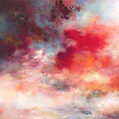 "Saatchi Art Artist Rikka Ayasaki; Painting, ""Passions, sunset 7003 (SOLD, Prints available, 70x70x5cm)"" #art"