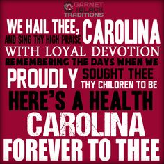 Carolina, Forever to thee! #Gamecocks