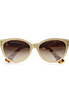 CUTLER AND GROSS Cat eye metallic acetate sunglasses