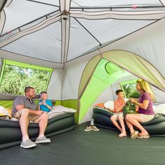 3 Room 11 Person Cabin Tent Family Instant Ca...