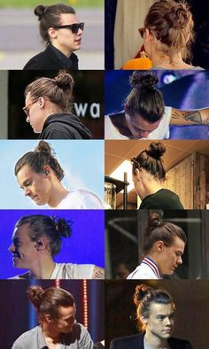 im gonna miss thissssss <<< Let's just take a moment to love this harry because he has no more long hair Harry Styles Man Bun, Harry Styles Family, Harry Styles Pictures, One Direction Pictures, Harry Edward Styles, Foto One, Harry Styles Wallpaper, Ginger Beard, Native American History